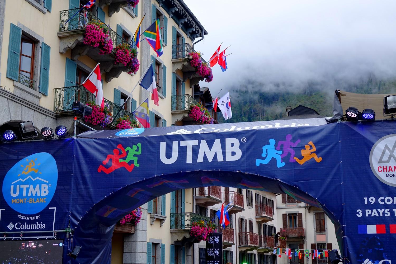 Arche d'arrivée de l'UTMB