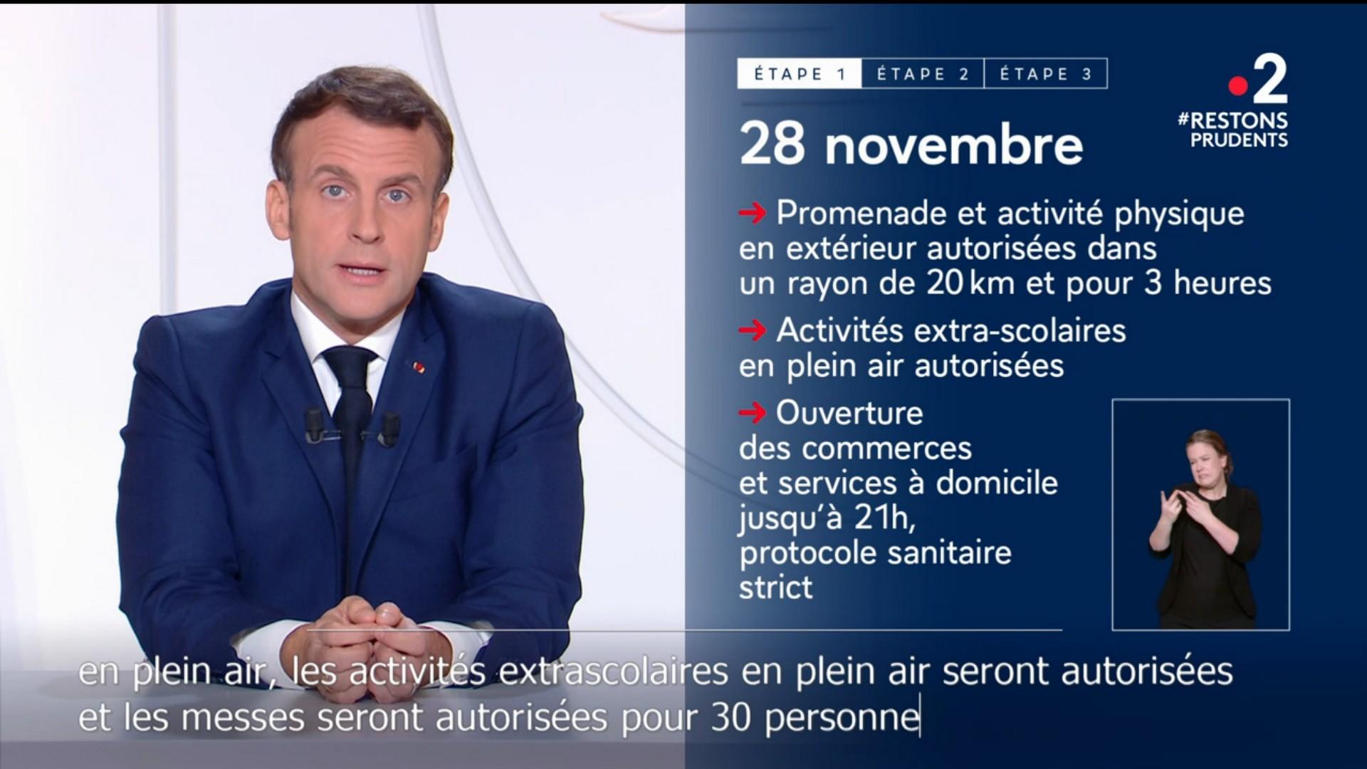 Emmanuel Macron 24 novembre 2020