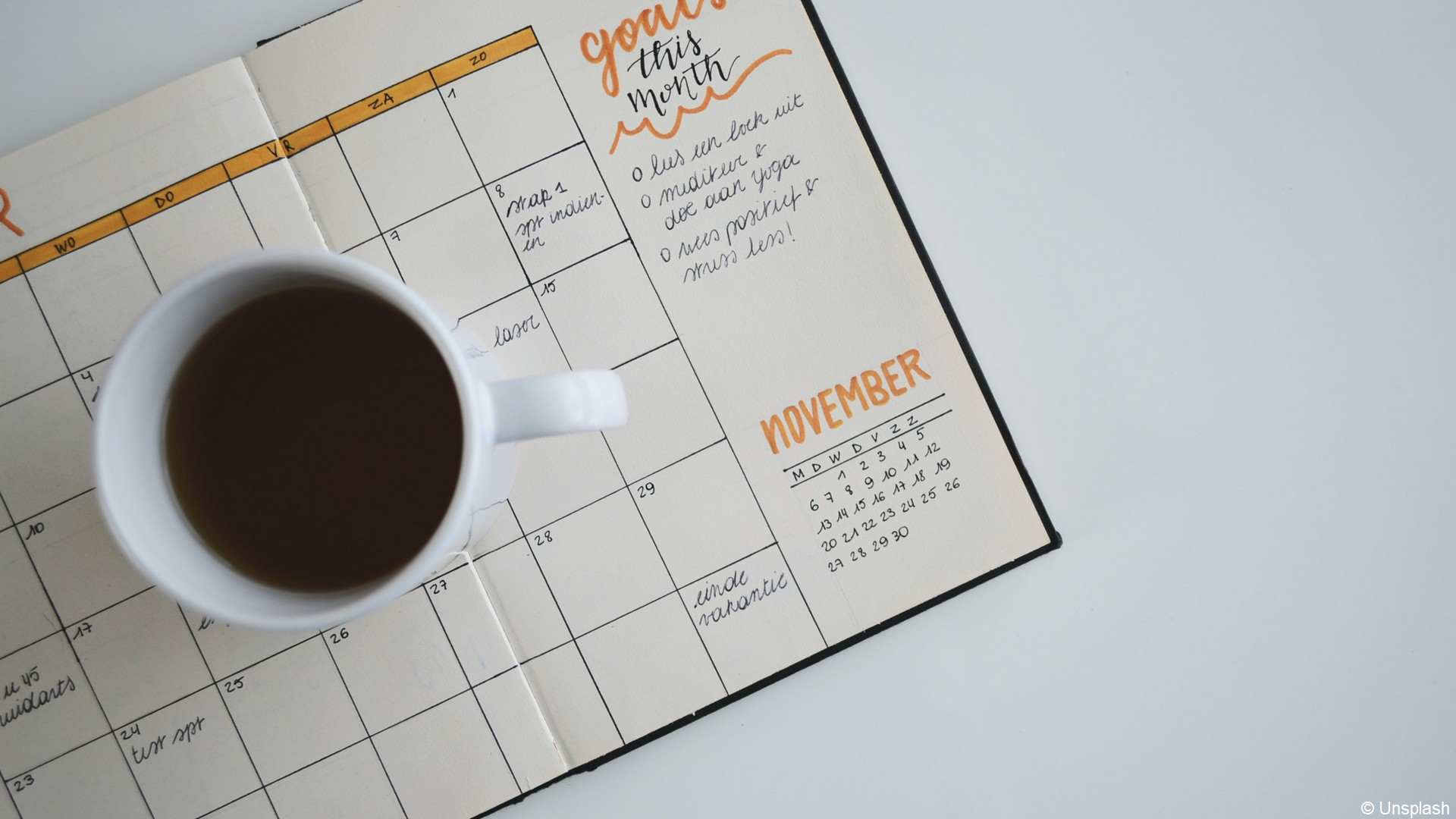 Agenda (1) tasse de café