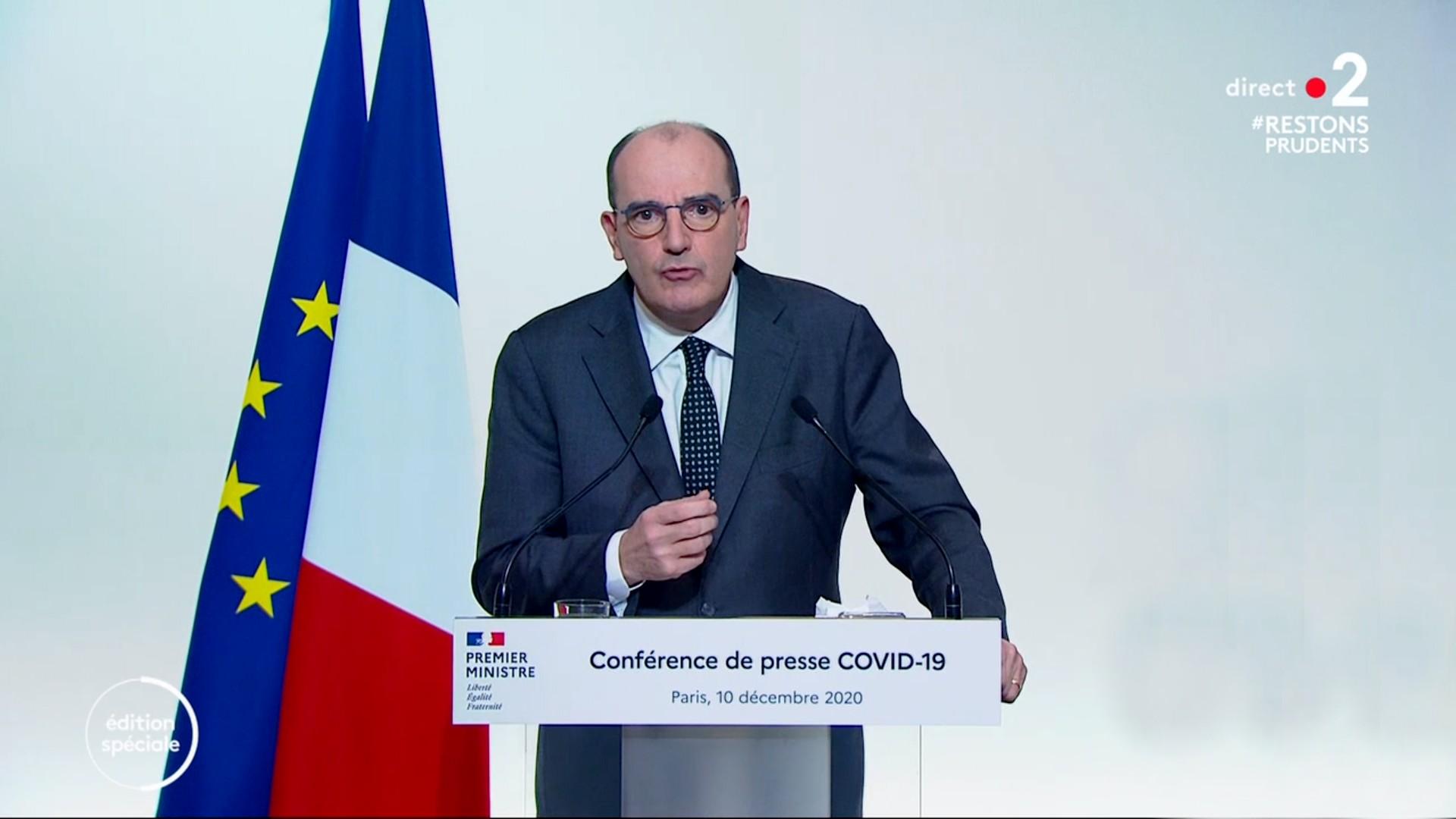 Jean Castex Premier Ministre Allucution 10 décembre 2020