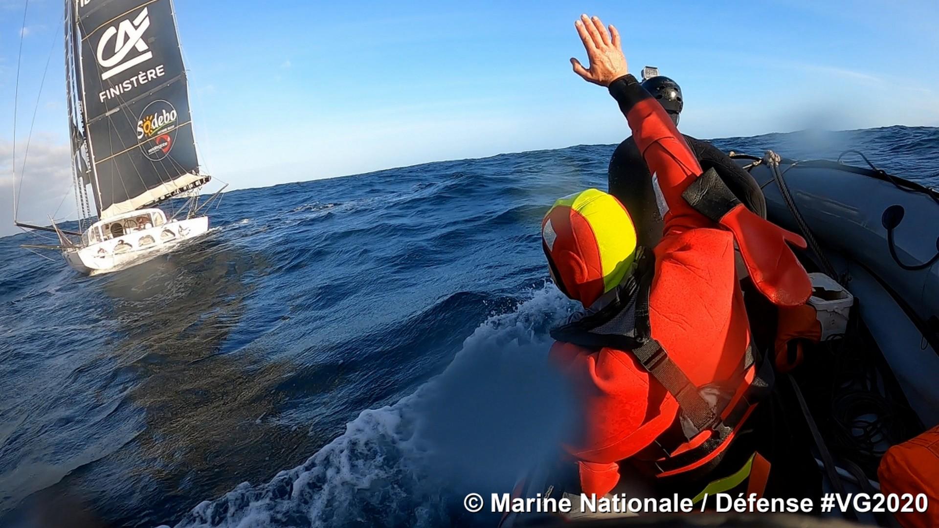 Vendée Globe 2020 (2) Escoffier Le Cam naufrage