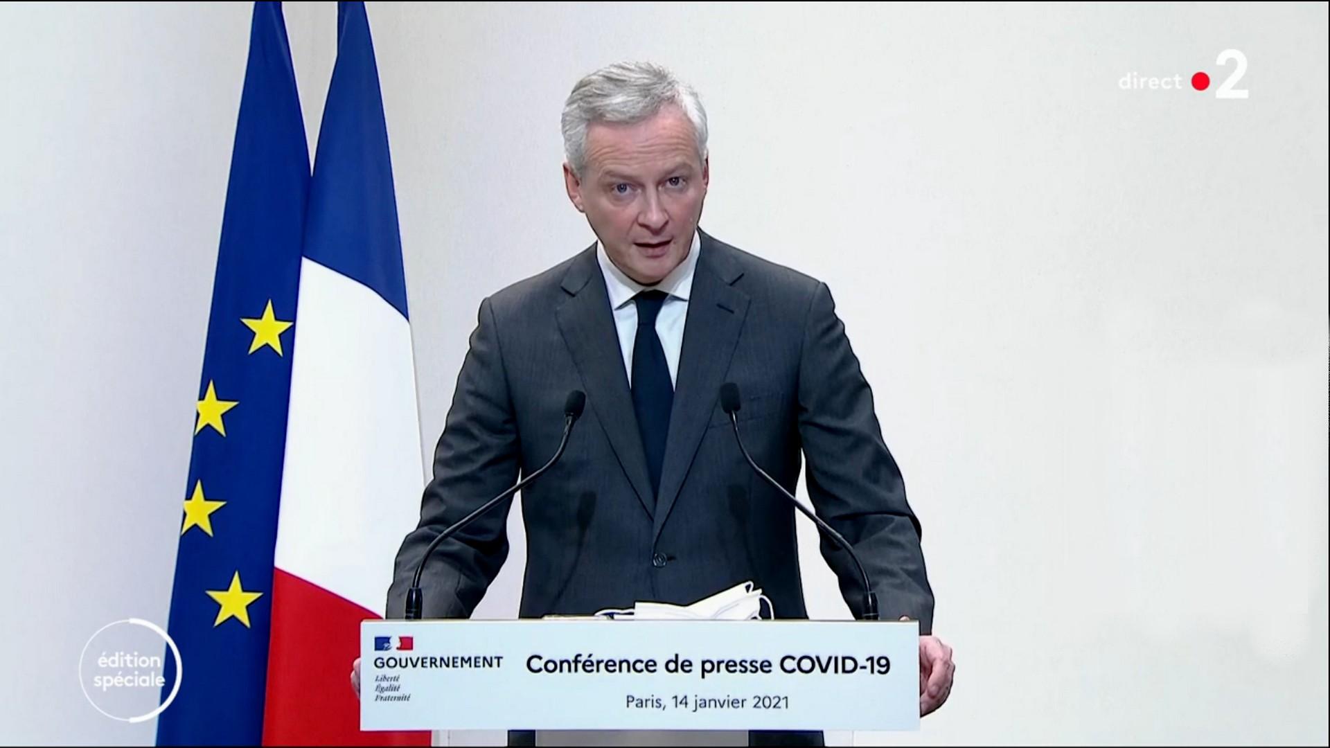Bruno Le Maire Premier Ministre Allucution 14 janvier 2021