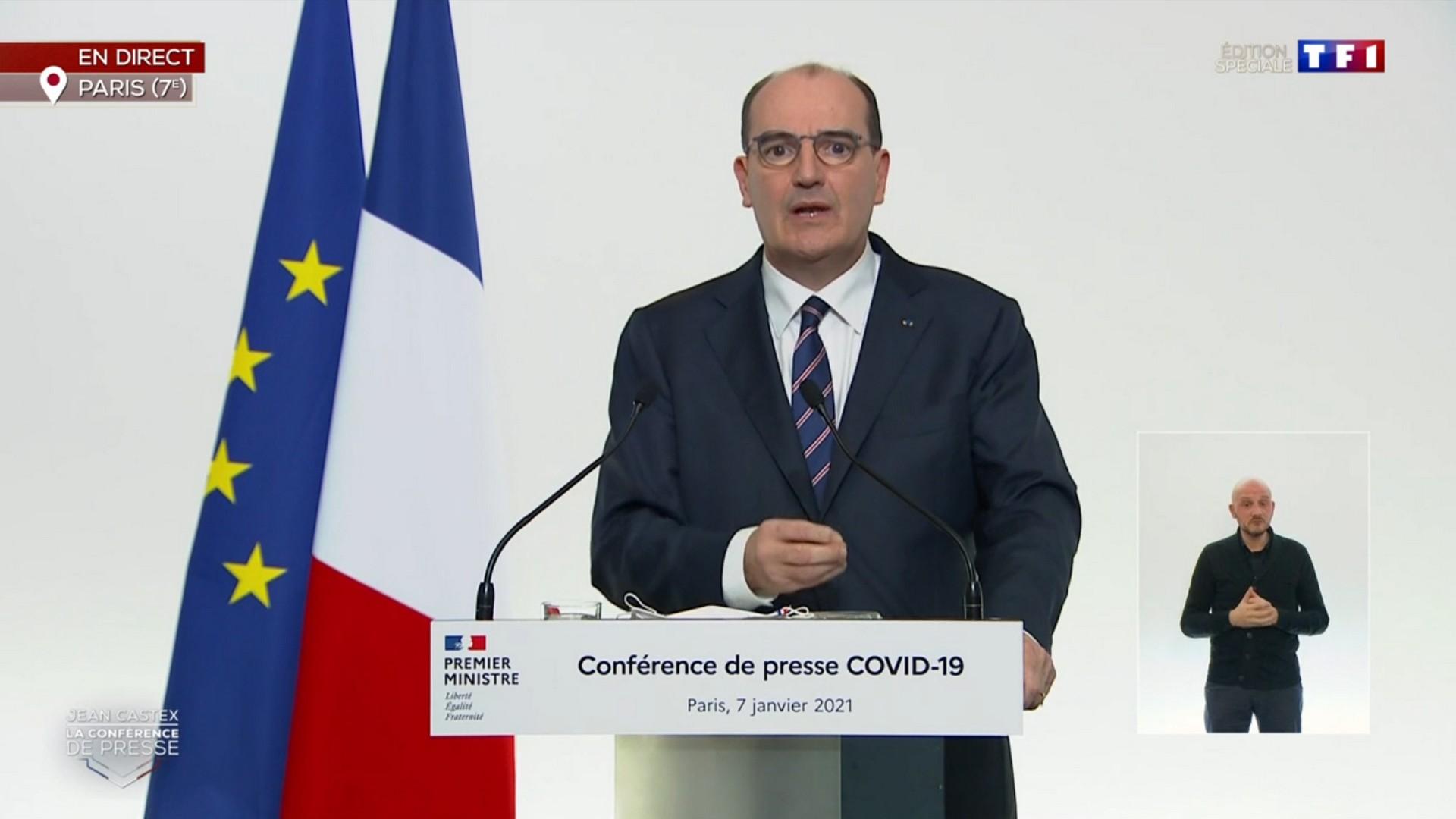 Jean Castex Premier Ministre Allucution 7 janvier 2021