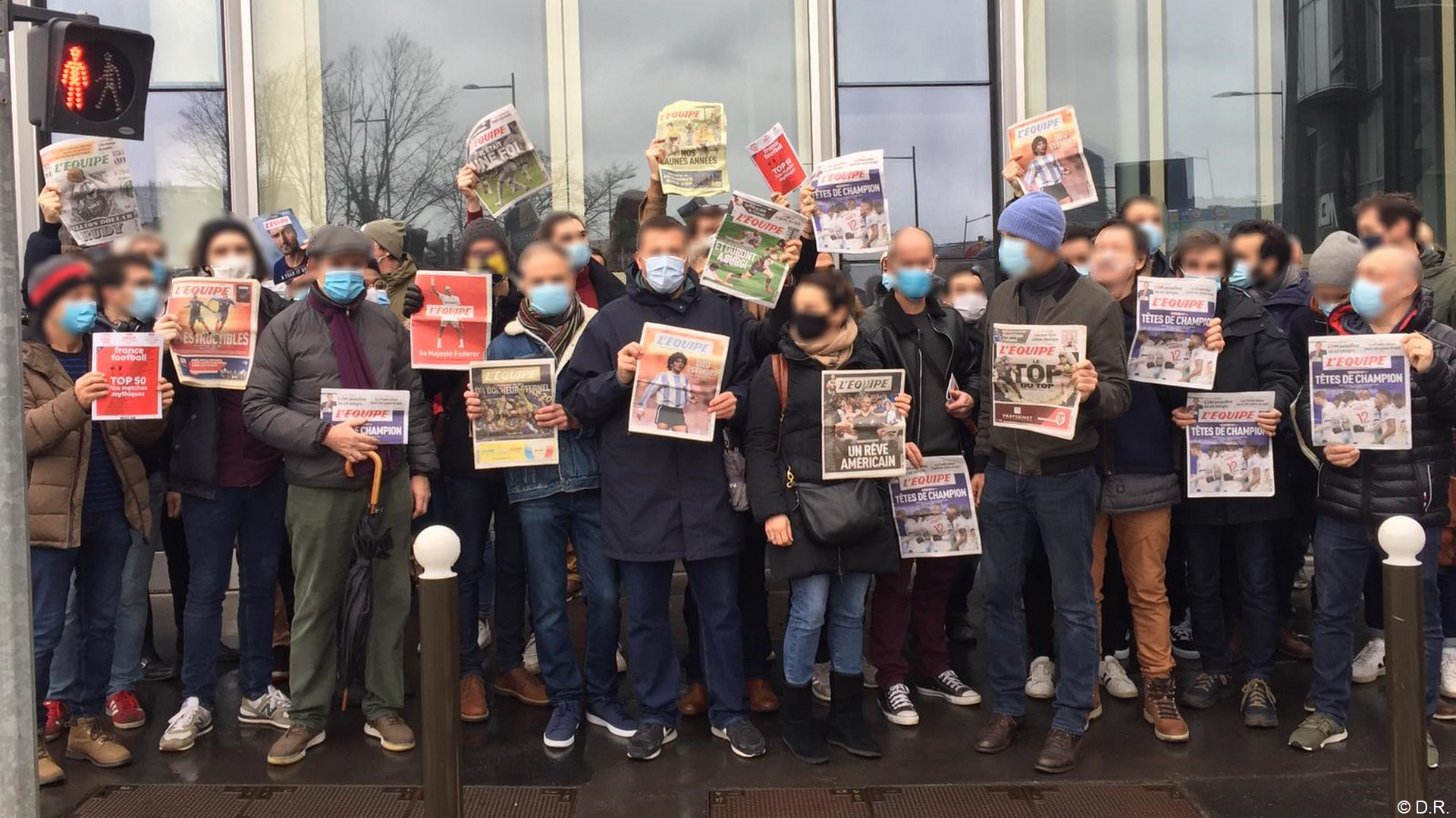 L'Equipe grève manifestation