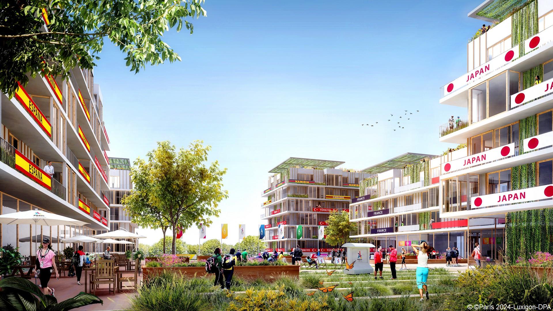 Village Olympique (c) Paris 2024-Luxigon-DPA