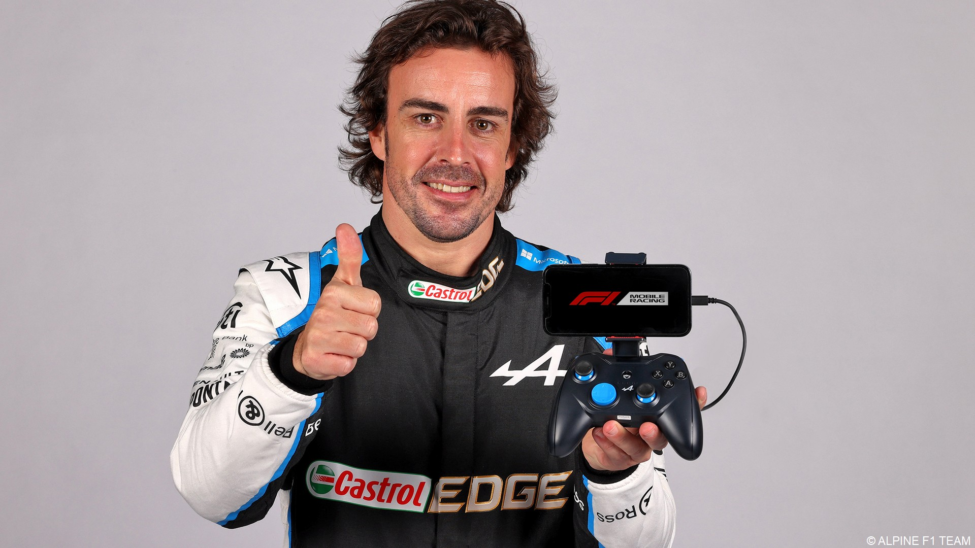 Fernando Alonso Alpine Manette de jeu