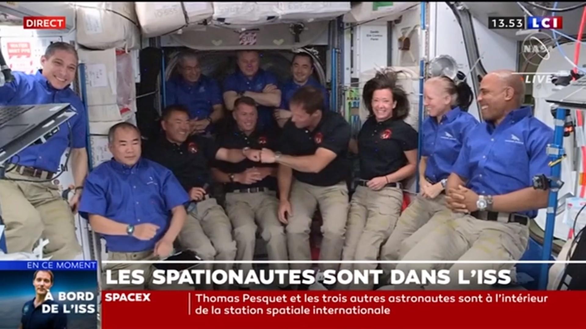 ISS – Hiroshi Yamakawa – Thomas Pesquet