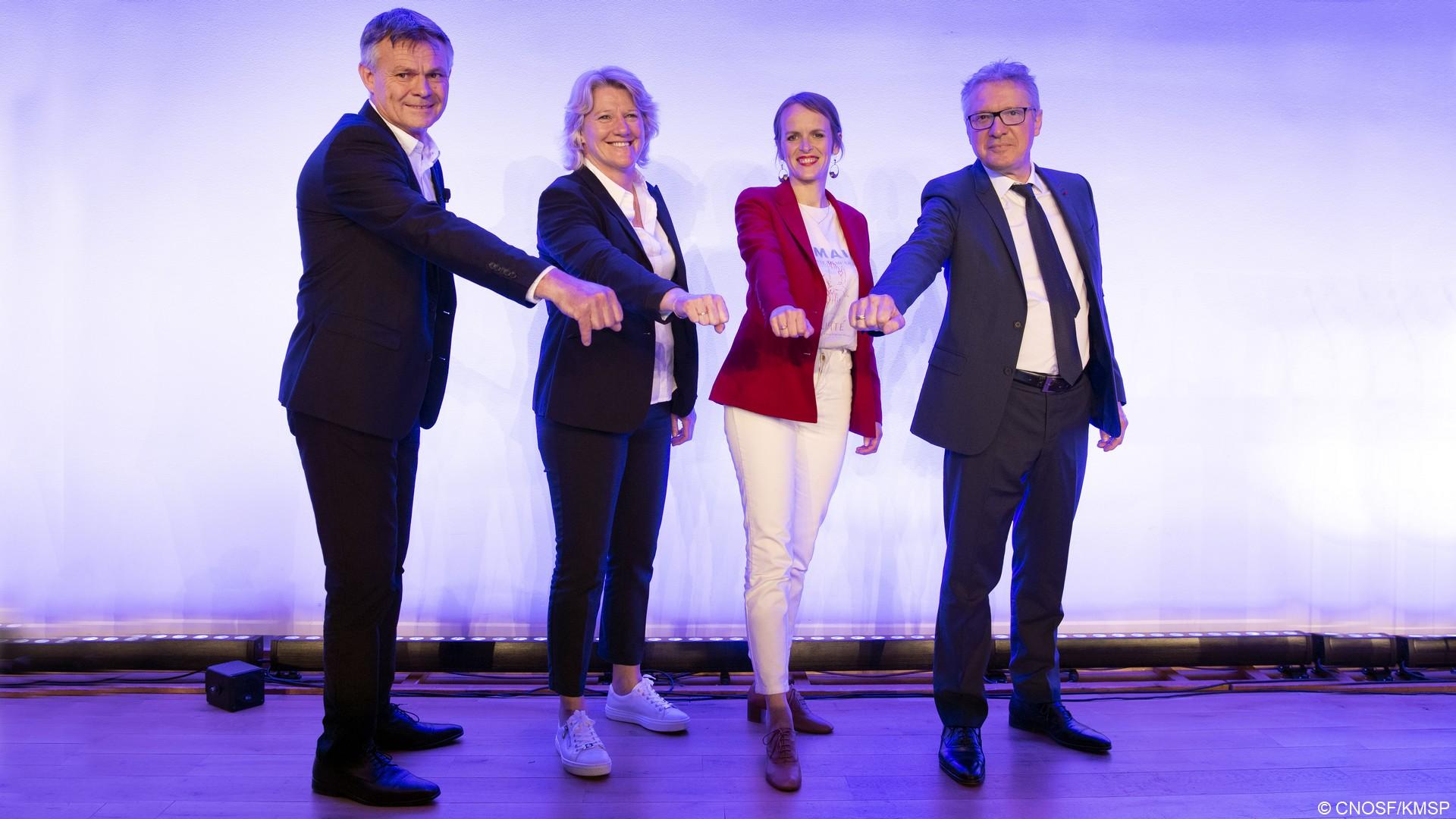 CNOSF Election Patrice Martin Brigitte Henriques Emmanuelle Bonnet-Oulaldj Thierry Rey