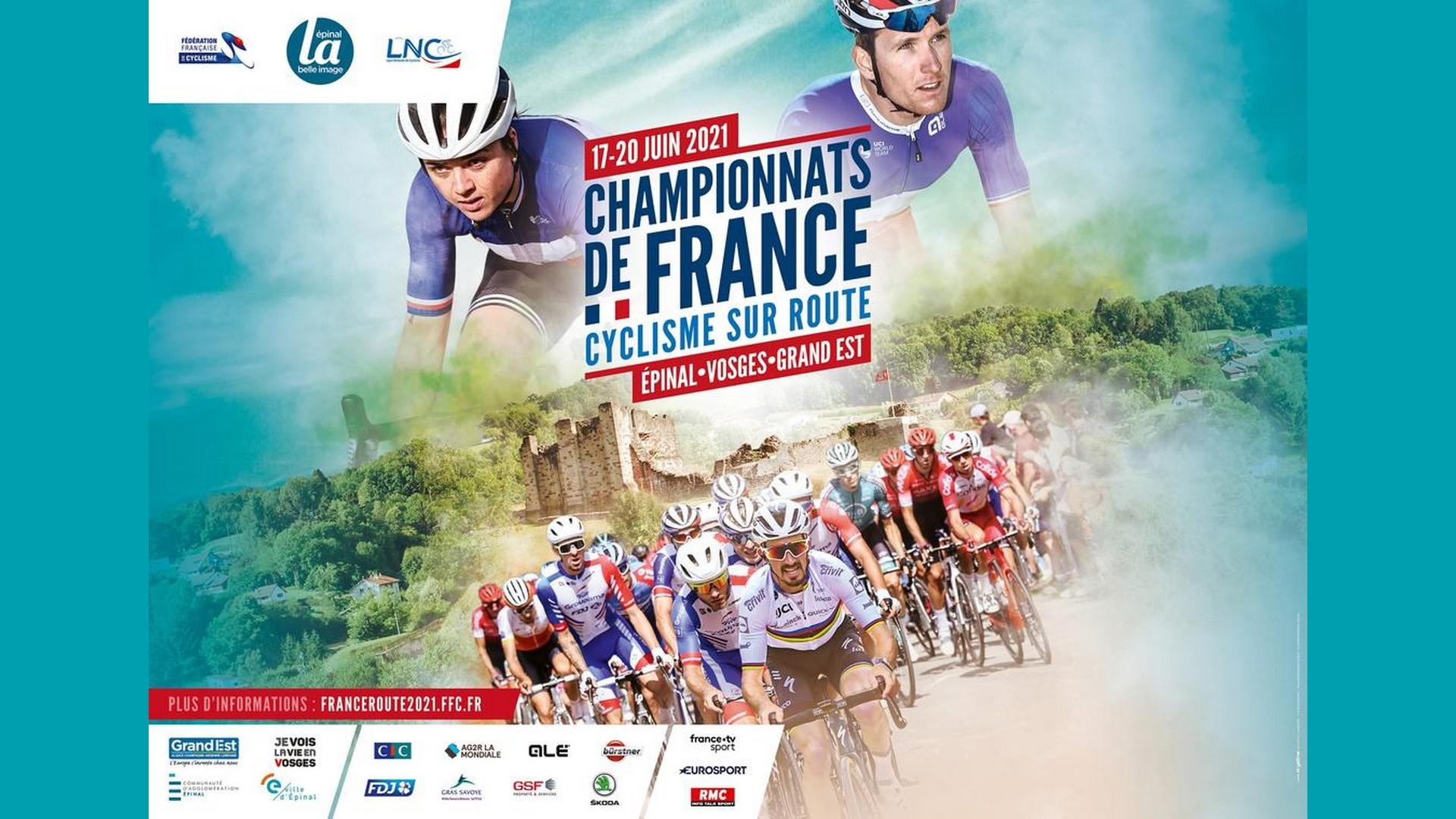 Championnats de France route 2021 – Epinal (affiche)