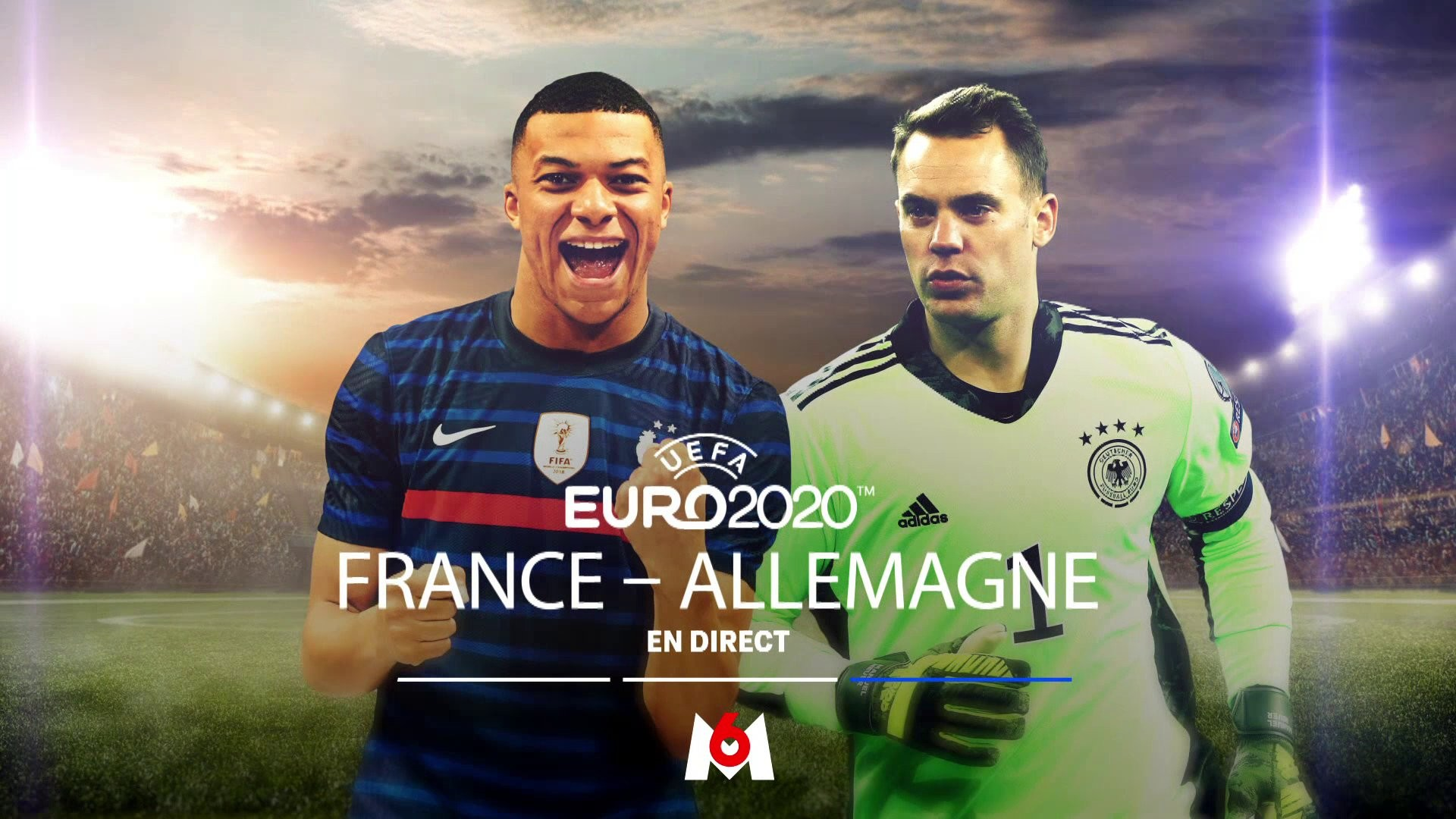 Football – Euro – France Allemagne – M6