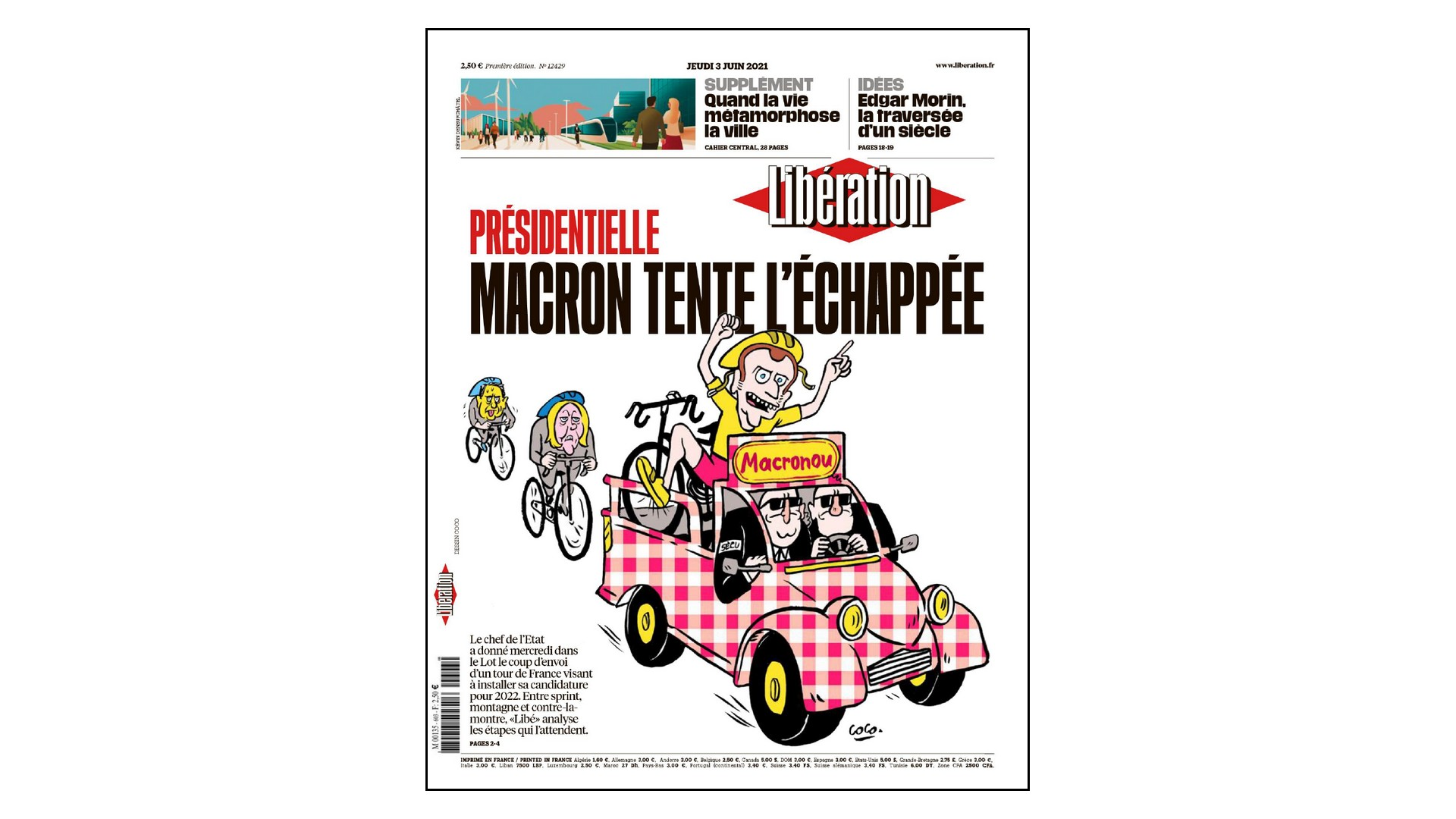 Libération – Une Macronou