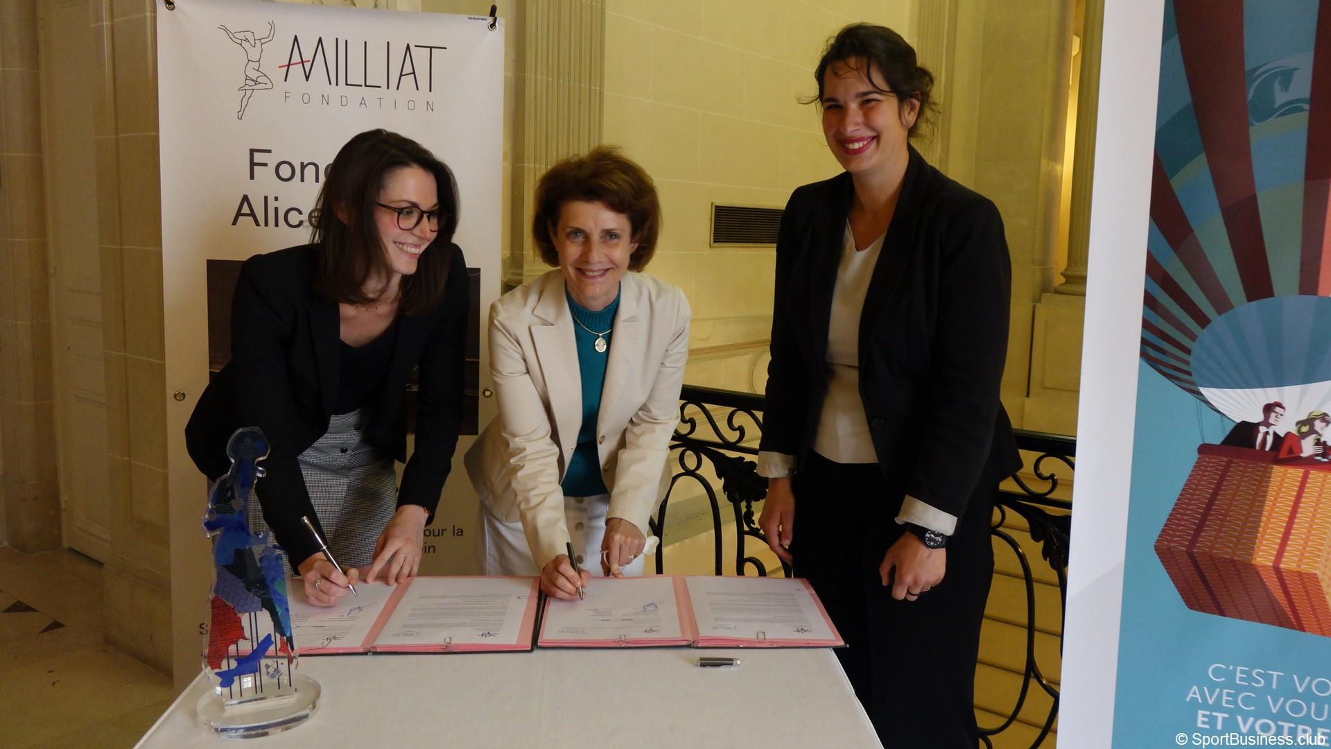 Fondation Alice Milliat Aurélie Bresson Banque Palatine
