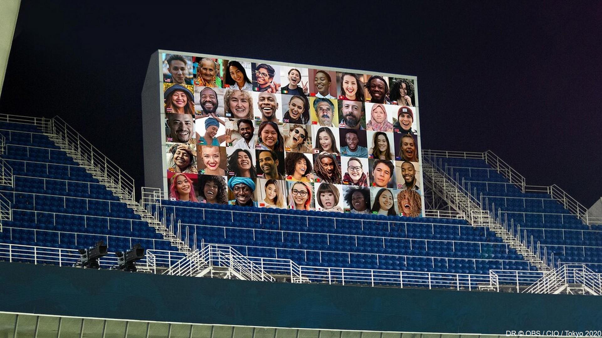 Tokyo 2020 – Fan Wall (1) OBS