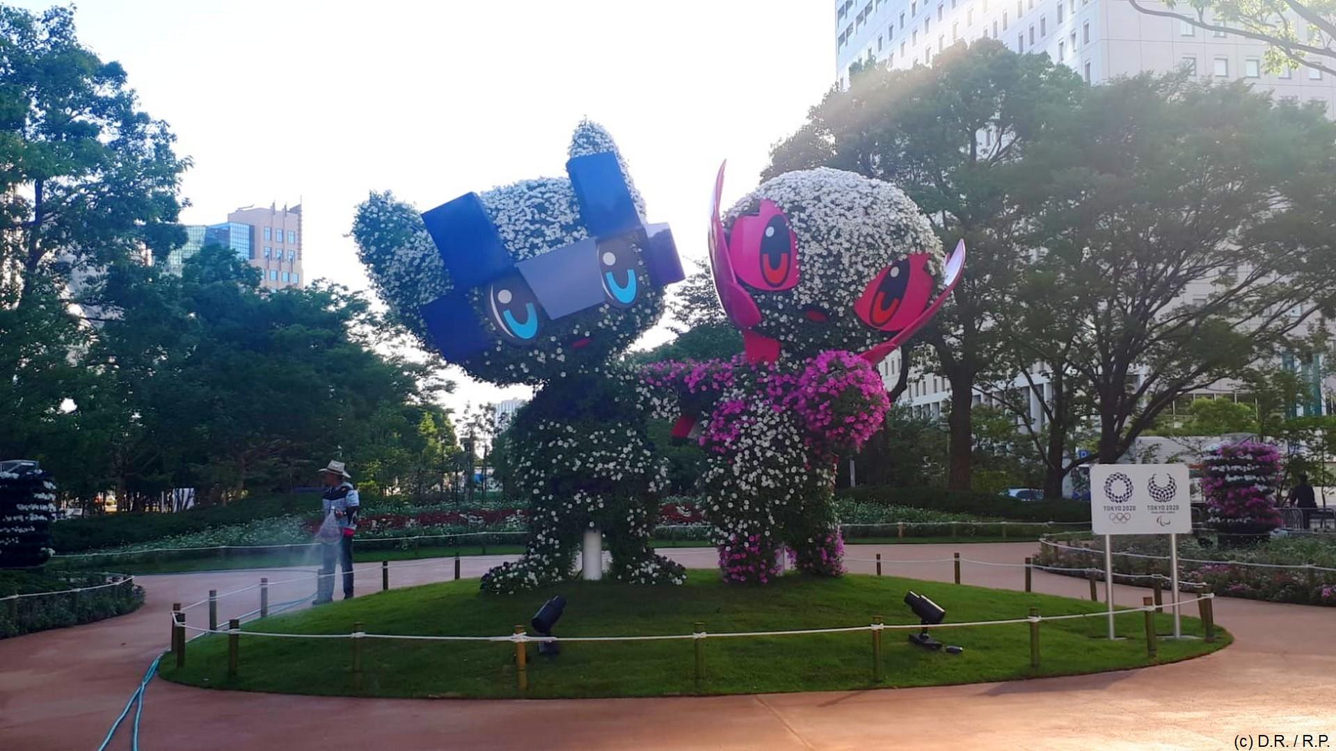 Tokyo 2020 – Mascottes jardin