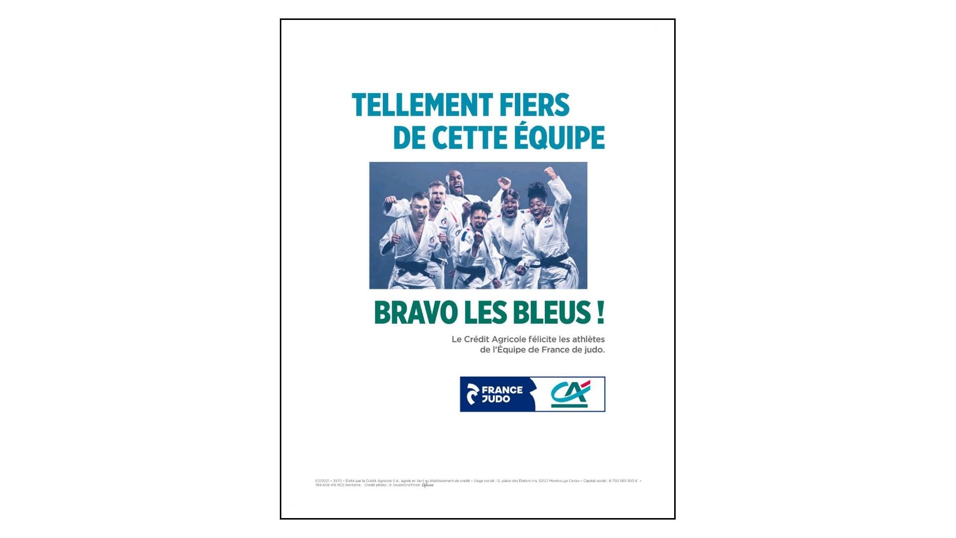 Crédit Agricole x Equipe de France lympique (judo) Lafourmi 2021 (presse)