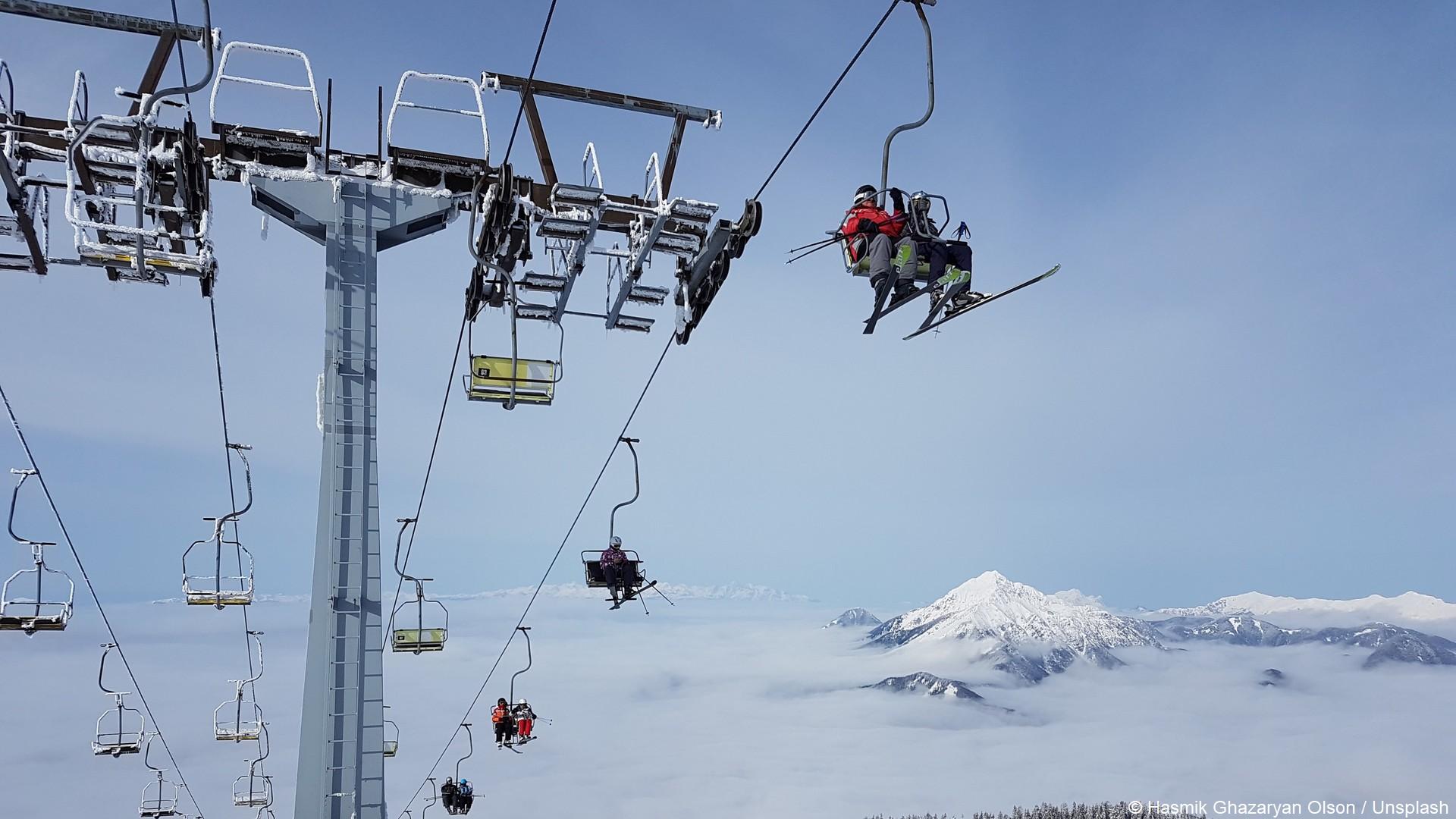 Ski montagne remonte-pente