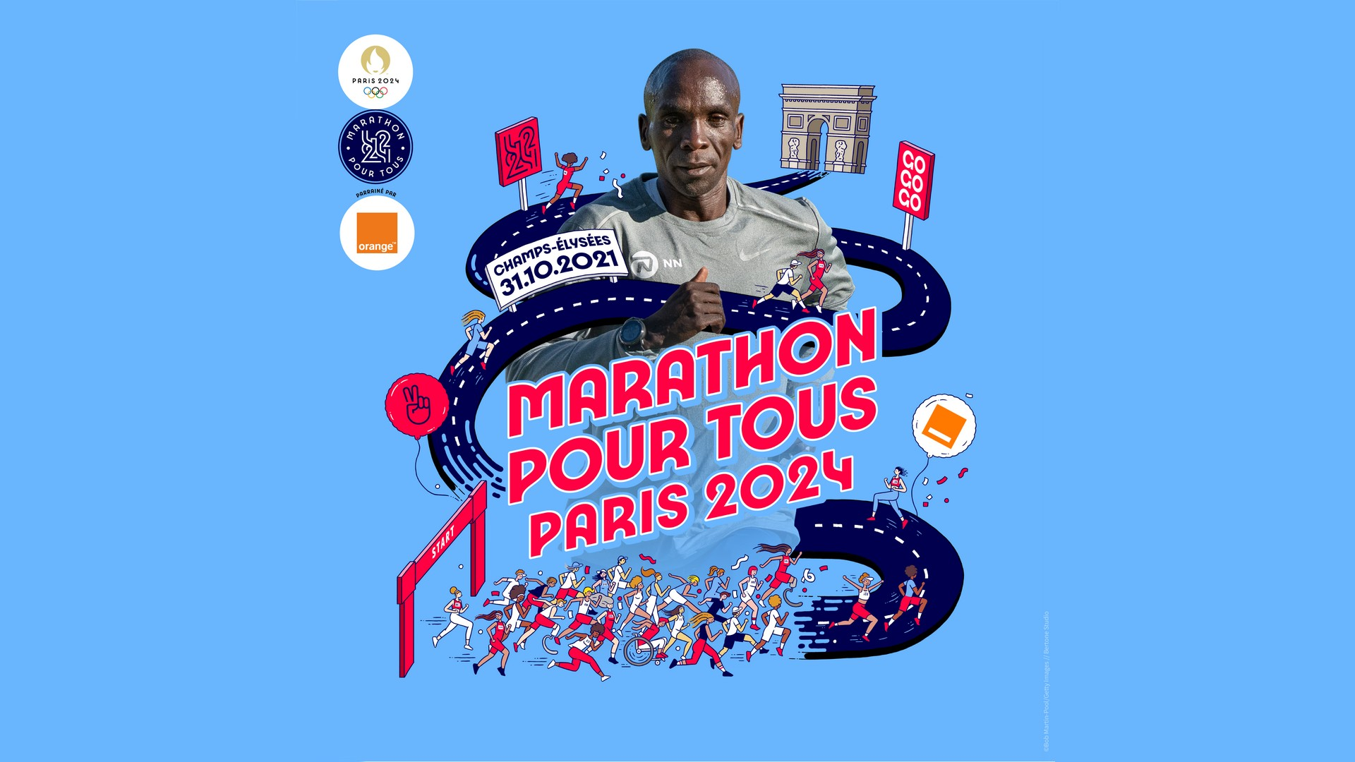 Course avec Eliud Kipchoge Octobre 2021